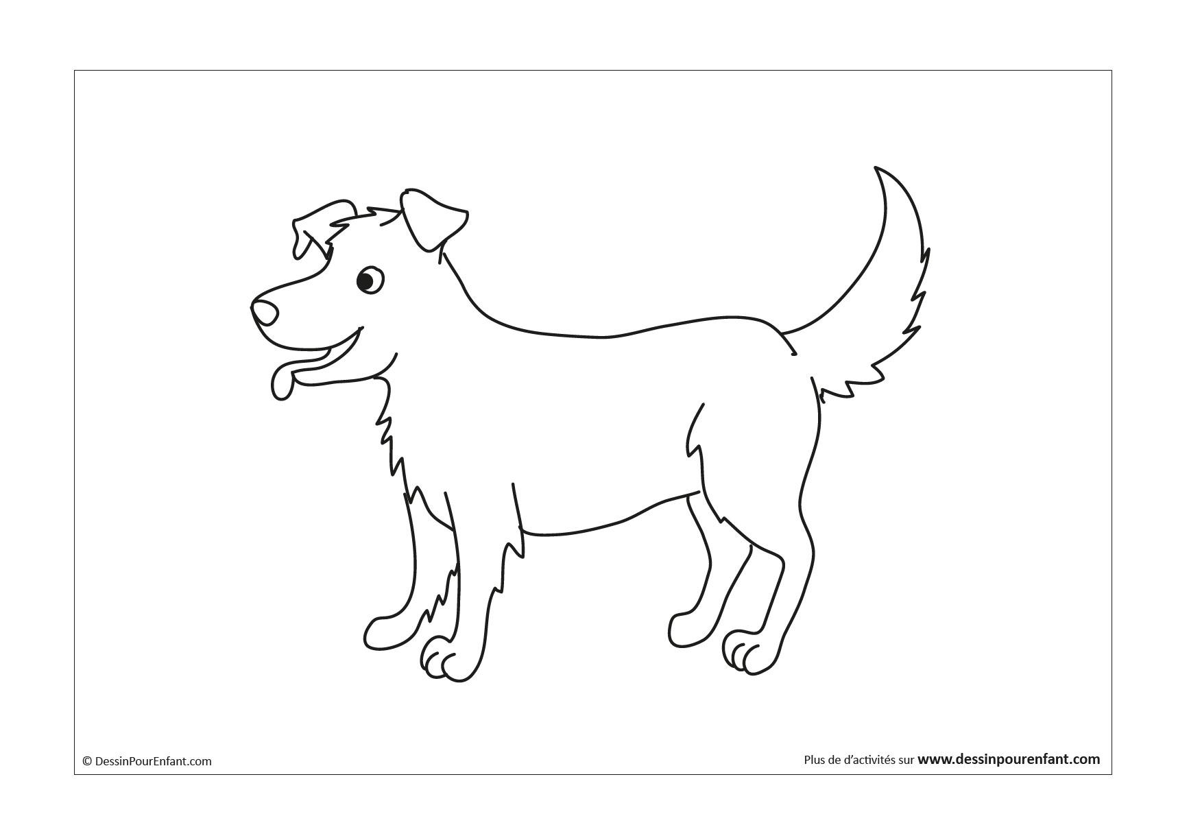 Comment dessiner un chien en 40 étapes   Dessin pour enfant